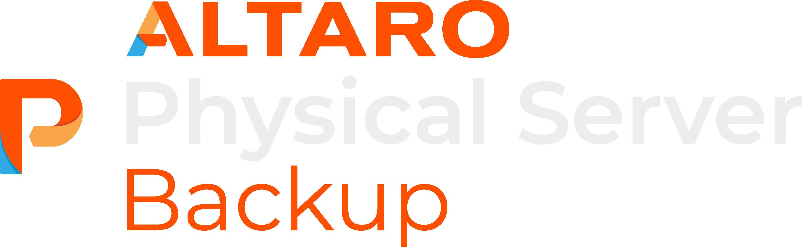 Altaro Physical Server Backup
